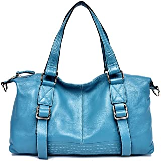 Shoulder Bag PU Material Ladies Handbag Large Capacity Shopping Bag Suitable Travel Party Handbag Clutch (Color : Lightblue, Size : One Size)