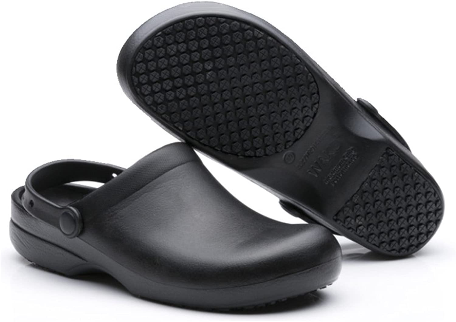 EASTSURE Work Clog Unisex Slip Resistant Kitchen shoes Black for Nurse Chef