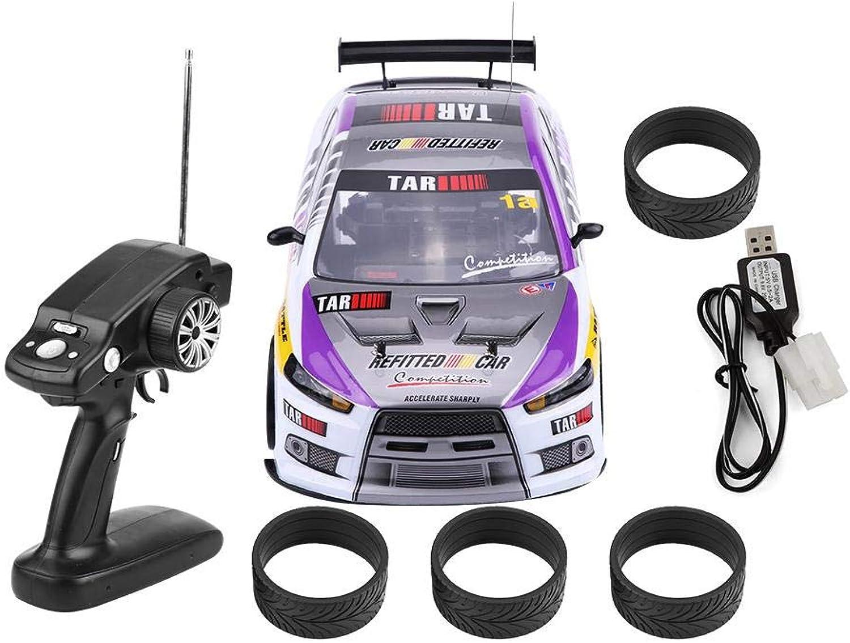 RC Drift Auto Spielzeug, 1 10 Vierräder Antrieb 4WD Fernbedienung Drift Auto RC Rennwagen Modell Spielzeug Fahrzeug(Zwei-Batterie-Fach (70 km h)) B07K8Q3LSW Erste Gruppe von Kunden  | Großartig