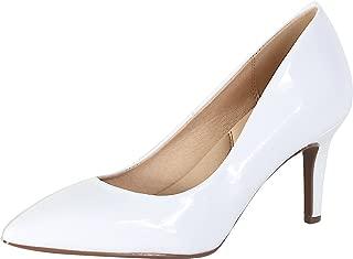 City Classified Comfort Medium High Heel Pointy Toe PumpSuper Cushioned Memory Foam Inner Sole
