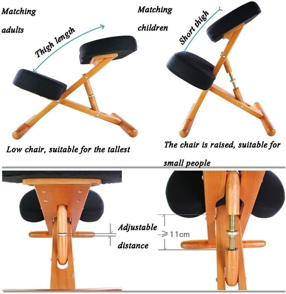 XLGJCWQY Chaise Ergonomique à Genoux, Tabouret réglable pour la Maison et Le Bureau - Améliorez Votre Posture avec Un siège incliné, Coussin épais (Couleur: B) A