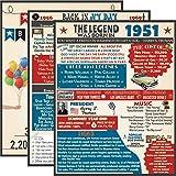 "VAPARA DESIGNS 70th Birthday Decorations - 3 Pack of Fun, Artistic 11x14"" Birthday Posters - 70th Birthday Gifts for Women -70th birthday gifts for men - 1951 Birthday Posters"