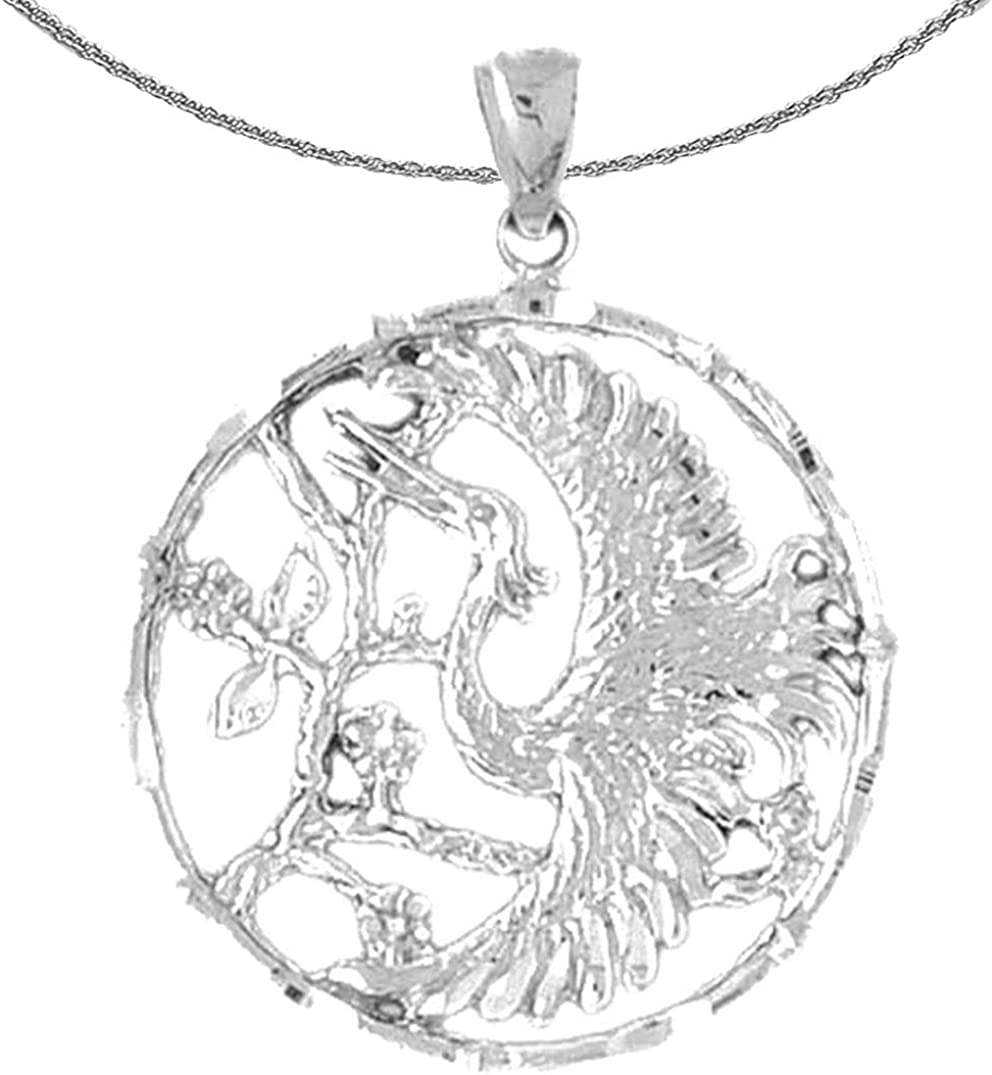 Jewels Obsession Silver Bird Tampa Ranking TOP2 Mall Silve Rhodium-plated 925 Necklace