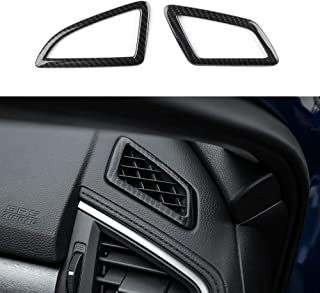 Thenice for 10th Gen Civic ABS Carbon Fiber Style Dashboard Air Vent Trims Wind Outlet Decoration Stickers for Honda Civic 2016 2017 2018 2019 2020
