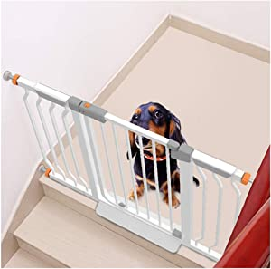 YONGYONG-Guardrail Punch-free Baby Safety Gates Anti-pet Fence Door Cats Cage Isolation Door Balcony Dog Fence Indoor Anti-dog Stairway Isolation Railing Fence Pressure Mount Play Yard