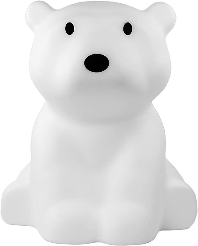 White LED Soft Glow Nanuk Polar Bear Lamp With Dimmer 16 Inches Tall