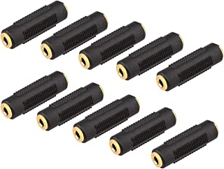Female Audio Jack Adapter, Yeeco 10PCS 3.5mm Stereo Coupler Adapter Dual Channel Female to Female Audio Joiner Adapter Gold Plate Stereo Jack Adapter for Piano Keyboard Stereo Cable Speaker Headphone