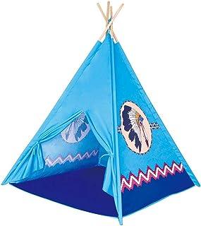 Campingtält utomhustält, tipi-tält för barn hopfällbart barn lektält för flicka och pojke med bärväska 4 stolpar lekstuga ...