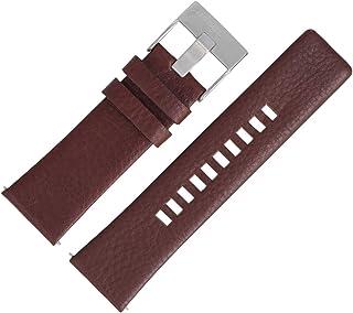 Diesel, DZ-4281, cinturino per orologio, in pelle, 26 mm, colore: marrone