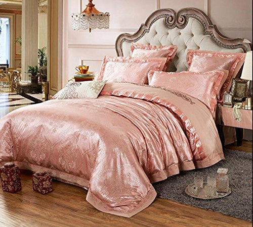 Review Of HUROohj Satin Jacquard,The New Bedding Four Sets,European Style,Bedding Kits( 4 Pcs)...