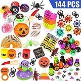 LAOSSC 144 Pieces Halloween Toys Novelty Assortment for Halloween Party Favors, Halloween Prizes,School Classroom Rewards, Trick or Treating