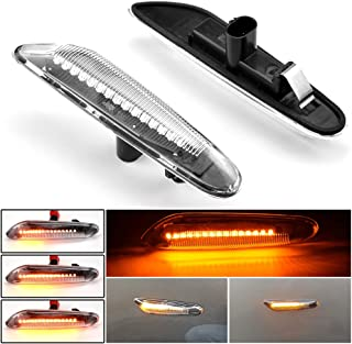 MKptopia 2st Dynamic Sequential Full LED Strip Side Marker Light Front Fender Turn Signal Lamp Assembly Compatible with E8...
