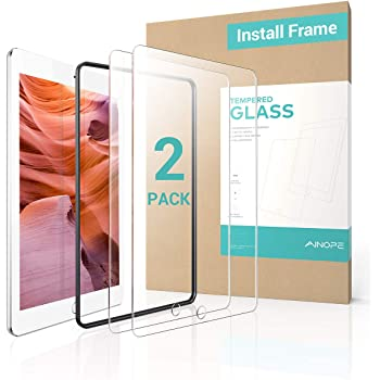 2 PACK for iPad Mini 4/Mini 5 (2019) Screen Protector, AINOPE EASY INSTALL FRAME Tempered Glass for iPad Pencil Compatible with/Anti Fingerprint/Scratch-Resistant/9H Hardness