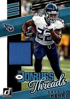 2019 Donruss Donruss Threads #32 Derrick Henry Tennessee Titans Jersey NFL Football Trading Card