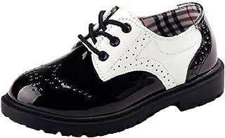 WUIWUIYU Boys  British Style Lace-Up School Uniform Dress Oxfords Shoes( Toddler  a3bfa2f8242