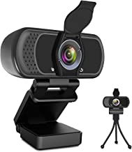 1080P Webcam Web Camera with Microphone, HD Webcam Computer Cam with Cover and Stand, Plug and Play Webcam for PC Laptop D...