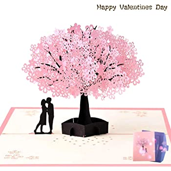 Lin de Pop Up Tarjetas Tarjetas de boda boda invitaciones Valentin Tarjetas 3d Tarjetas Tarjetas de felicitaci/ón Tarjetas de felicitaci/ón Amor Boda k/üssendes pares//coraz/ón /Árboles