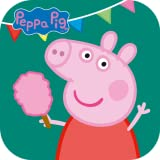 Ride across the theme park on the train picking up and dropping off passengers along the way Float in a hot air balloon collecting balloons as you go Help make candy floss for Peppa, George, Mummy Pig and Daddy Pig Fire the water cannon to hit the ta...