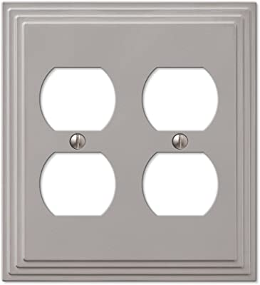 Leviton 88016 2 Gang Duplex Device Receptacle Wallplate Standard Size Thermoset Device Mount White Outlet Plates Amazon Com
