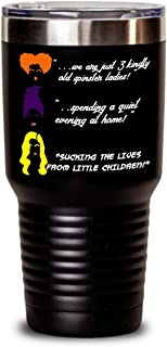 Hocus Pocus Halloween novelty tumbler, Winifred Mary Sarah Sanderson sisters decor movie merchandise funny quotes cups, All Hallows eve Samhain gifts, Dani Dennison girls gift for women, Max Dennison
