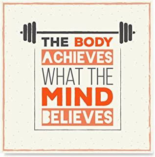 EzPosterPrints - Gym Fitness Inspiration Motivation Quotes Posters - Poster Printing - Wall Art Print for Home Office Decor - Mind - 16X16 inches