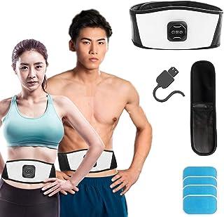 EMS 腹筋ベルト 筋力トレーニング 振動エクササイズベルト パッド 腹筋マシン ダイエット器具 腹筋EMS 10段階 6つッモード 筋トレ器具 USB充電式 男女兼用 便利軽量簡単