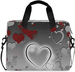 "Special Valentine's Day Grey 15.6"" 16"" Laptop Case Sleeve Briefcase Computer Shoulder Bag W/Strap"