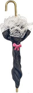 Aztec Imports, Inc. Dollhouse Miniature 1:12 Scale Victorian Umbrella, Black