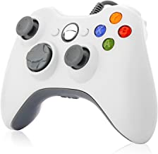 Xbox 360 Controller,TGJOR Wired USB Game Controller Gamepad Joystick with Shoulders Buttons for Microsoft Xbox & Slim 360 PC Windows PC (White)