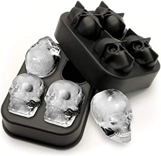 Hope Light Ice Ball Maker - Skull Ice Cube Maker, Silicone Ice Trays for Whiskey Wine, Cocktails and Beverages
