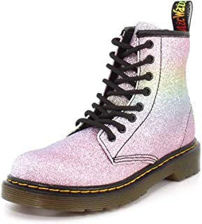Dr. Martens Kid's Collection Girl's 1460 Patent Glitter Junior Delaney Boot (Little Kid/Big Kid)