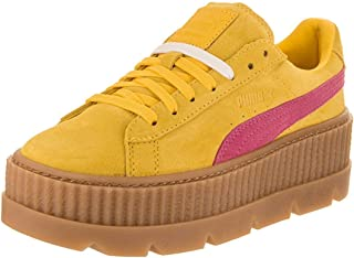 yellow suede platform shoes