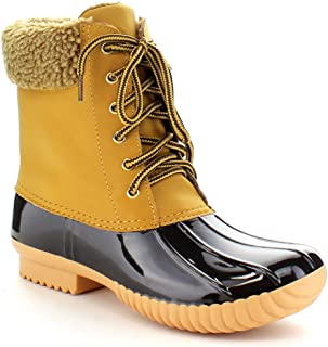 Nature Breeze Ladies Duck-02 Lace Up and Zipper Waterproof Insulated Boot cfb7b127b2