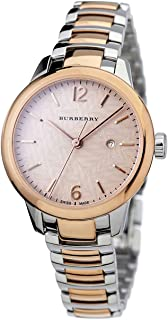 Swiss Rare Rose Gold 2 Tone Silver Date Dial 32mm Women Stainless Steel Wrist Watch The Classic BU10117