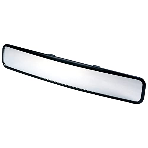 6 Razo RG23 11.8 Black Frame Wide Angle Convex Rear View Mirror Car Mate