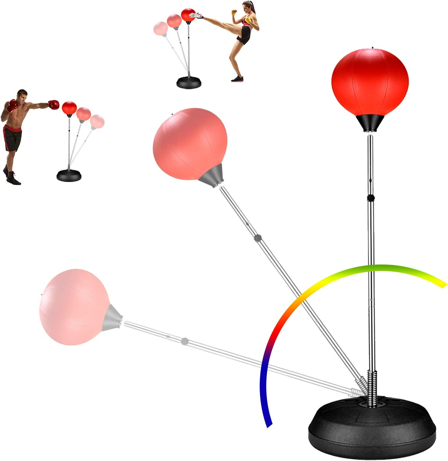 ZOVOTA Punching Bag Speed Boxing with Ball Some reservation Set Raleigh Mall Adjustable Stand
