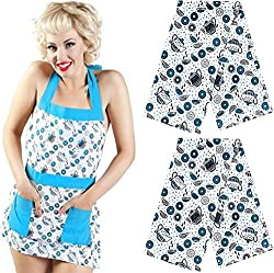 Donuts Kitchen Apron & Dish Towel Set by Sourpuss