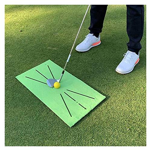 Alfombrilla De Golf Golf Matting Mat Swing Entrenamiento Ayuda Portátil y plegable Práctica de golf Formación de entrenamiento para el hogar Práctica de golf Inicio Turf Mat Golf ( Color : Green )