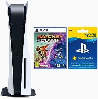 Sony Interactive Entertainment Konsola PS5 + Gra PS5 Ratchet & Clank Rift Apart + PlayStation Plus Card na 3 miesiące (PS5)