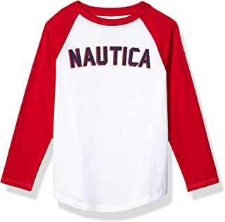 NAUTICA Boys 25NSSDA16F-100-C24 Long Sleeve Baseball Logo Tee Long Sleeve T-Shirt