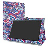 Lenovo Tab 4 10 Case,LiuShan PU Leather Slim Folding Stand