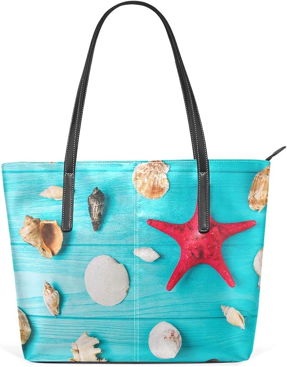 FANTAZIO Bolso de mano con diseño de estrellas de mar en medio de conchas marinas