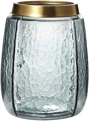 HZYDD Jarrones Florero de Cristal Transparente, Botella del Metal ...