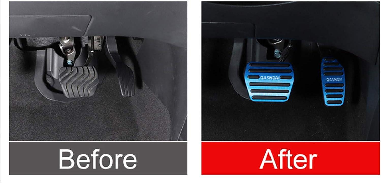 JNSMQC Auto-Gaspedal aus Aluminiumlegierung Kraftstoffbremspedale Clucth Fu/ßpedalabdeckung.///F/ür Nissan Qashqai j11 2014-2018 2019 2020 Zubeh/ör