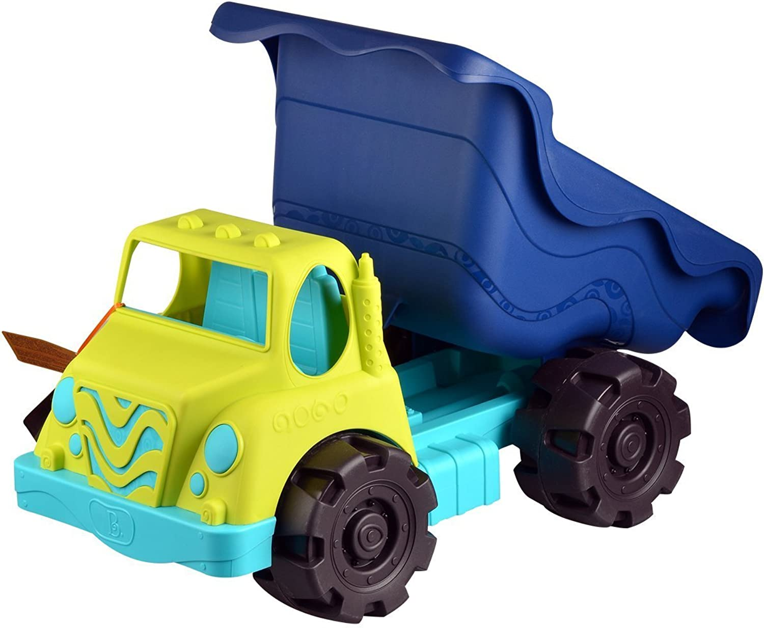 "B. Toys – Colossal Cruiser – 20"" Large Sand Truck – Beach Toy Dump Trucks for Kids 18 m+ (Lime Navy)"