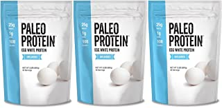 Paleo Protein Egg White Powder (Soy Free)(90 Servings Total) (Three 2lbs Pouches), 2 Pound (Pack of 3)