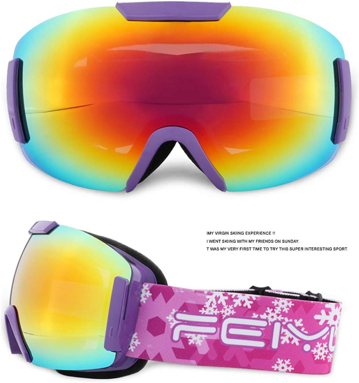 PRTQI Anti-Glare Lens Bezel Groe Spherical Surface Brille Ski Men and damen Young Can Myopia Protection Glasses Windproof Ski Maske Glser