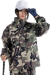 PENGFEI 恋人たち レインコートポンチョ 防水 ジャケット レインパンツ 釣り 徒歩で ライディング 薄いです 通気性のある、 カモ色 5サイズ (色 : カモ色, サイズ さいず : XL)