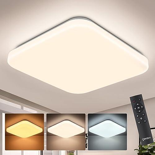 Oeegoo lámpara de techo regulable, 24W plafón techo LED con control remoto, lámpara de habitación infantil, luz LED s...
