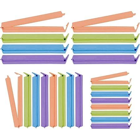 20Pz Clip di Tenuta Clip di Tenuta per Alimenti Chiusura per Cucina Clip di Plastica Clip di Chiusura Borse per Morsetti Clip di Conservazione per Alimenti Domestici Dimensioni 11 cm